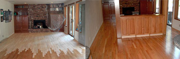 Hardwood Floor Installation Before and After - Seattle