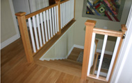 White Oak Hardwood Flooring and Steps 4 - Seattle